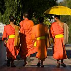 Monks of Luang Prabang by Gordito73