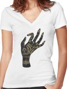 Palmistry Women's Fitted V-Neck T-Shirt