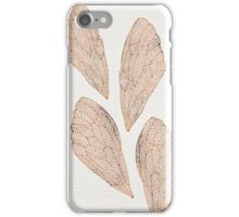 Cicada Wings in Rose Gold iPhone Case/Skin