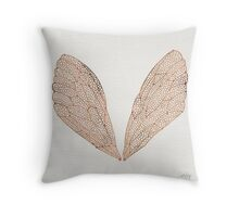 Cicada Wings in Rose Gold Throw Pillow