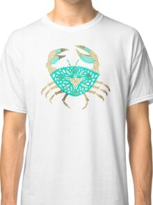 Crab – Turquoise & Gold Classic T-Shirt