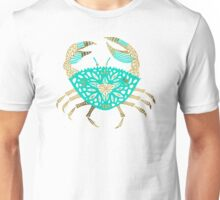 Crab – Turquoise & Gold Unisex T-Shirt