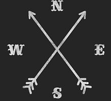Hipster Crossed Arrows - Compass (NSEW) by badbugs