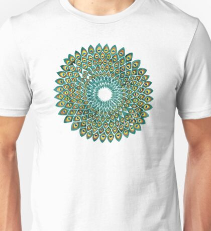 Peacock Mandala Unisex T-Shirt