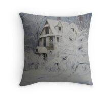 Winter in the Adirondacks Throw Pillow