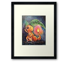 Charmander in the rain Framed Print