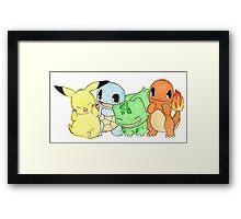 Hand Painted Pokemon Framed Print