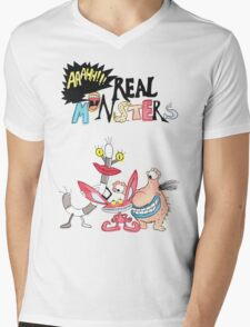 Real Monsters! Mens V-Neck T-Shirt