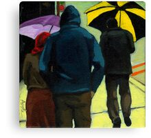 Figurative City Painting - Odd Man Out Canvas Print
