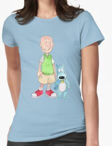 Doug and Porkchop Womens Fitted T-Shirt