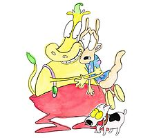 Rocko, Heffer and Spunky Photographic Print