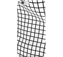 White Wavy Grid Case iPhone Case/Skin