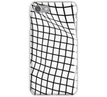 White Wavy Grid Case iPhone Case/Skin