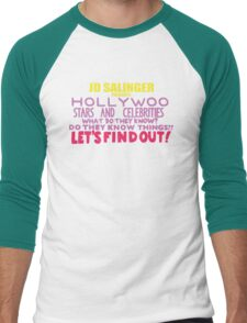 Hollywoo Stars And Celebrities Do They Know Things? Men's Baseball ¾ T-Shirt