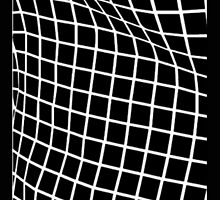 Black Wavy Grid Case by saulgalacticd