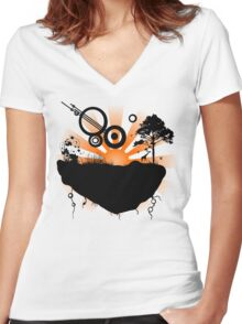 Ripped from Earth Women's Fitted V-Neck T-Shirt