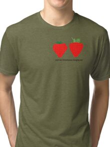 Just two StrawBABES hanging out...  Tri-blend T-Shirt