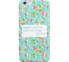 Lilly Inspired Sunshine Pink Quote You Gotta Regatta iPhone Case/Skin
