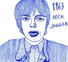 Mick Jagger in 1963 by iwantajuicer