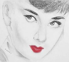 The Iconic Miss Audrey Hepburn by georginas-art