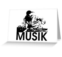Musik DJ Greeting Card