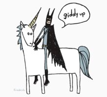 Paul Friedrich Batman on a Unicorn Kids Tee