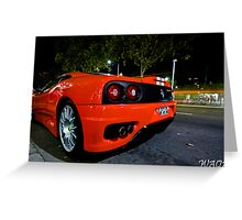 Ferrari 360 Challenge Stradle Greeting Card