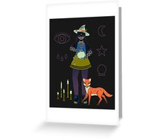 Witch Series: Crystal Ball Greeting Card