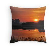 July sunrise near Renesse Throw Pillow