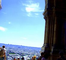 View over Paris from the doors of the Sacre Coeur! by Rusty  Gladdish