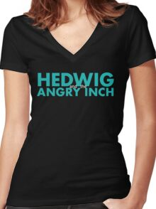 Hedwig and the Angry Inch - Aqua Women's Fitted V-Neck T-Shirt