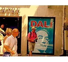 Dali Exposition in Montmarte yesterday!! Photographic Print
