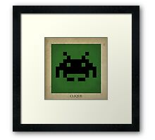 8-bit Life Cycle Framed Print