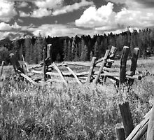 Engineer Mountain Colorado with Fence by Stacie Forest
