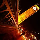 London Big Ben Night Perspective by DavidGutierrez