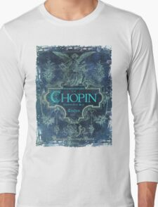 Frederick Chopin Blue Long Sleeve T-Shirt