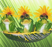 See,Hear,Speak No Evil Frogs by AngelinaLucia10