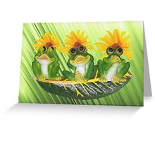 See,Hear,Speak No Evil Frogs Greeting Card