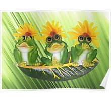 See,Hear,Speak No Evil Frogs Poster