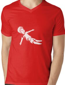 In Reality I Was Falling Mens V-Neck T-Shirt