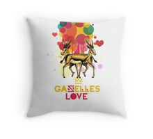 Gazelles Love Throw Pillow