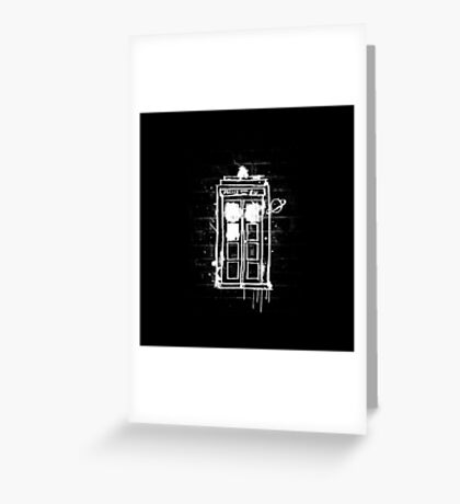 Time Lord Graffiti Greeting Card