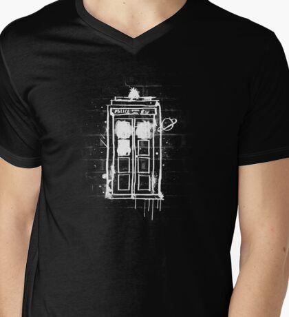 Time Lord Graffiti Mens V-Neck T-Shirt