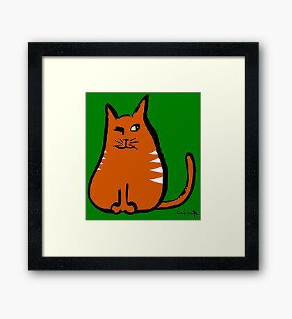 Sly Cat Framed Print