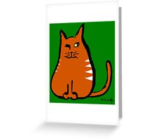 Sly Cat Greeting Card