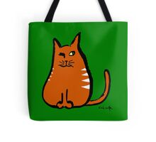 Sly Cat Tote Bag