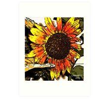 Fresco Sunflower Art Print