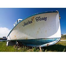 Old boat in dry dock Photographic Print