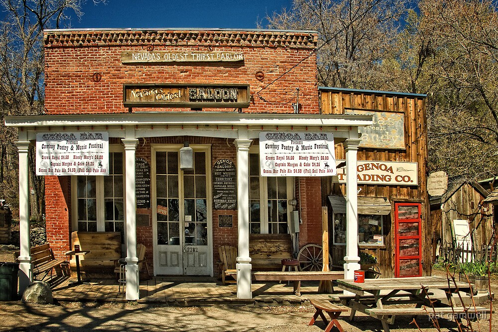 Nevada's Oldest Thirst Parlor (Outside) by pat gamwell