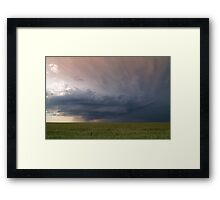 Between the Tornadoes Framed Print